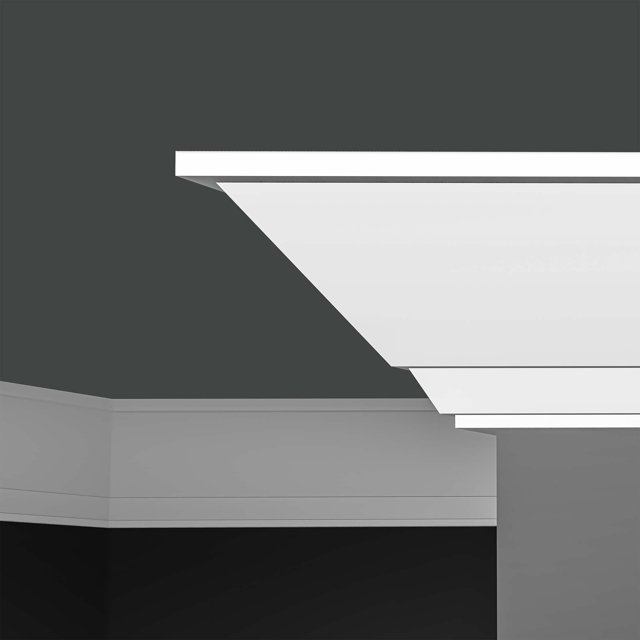 Plaster Coated Deco Crown Molding